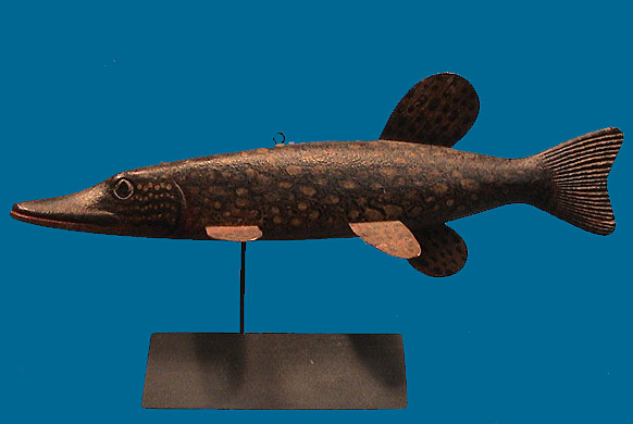 Scarce Mark McNair Pike fish decoy