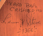 Ward signature on bottom Bufflehead
