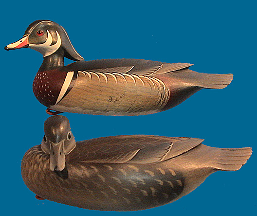 George Strunk mini Wood Duck pair