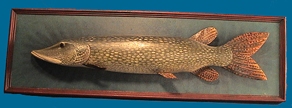 Superb Northern Pike fish plaque by Marty Hanson